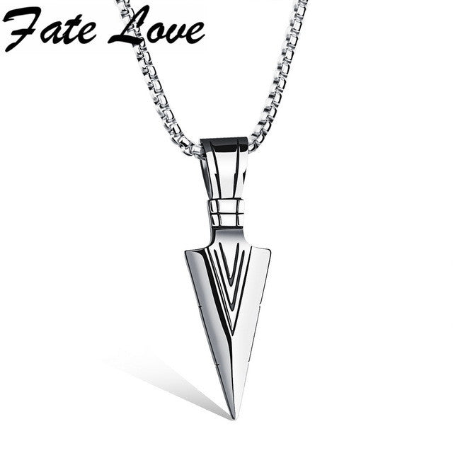Men's Fashion Spearhead Design Necklace Brought To You By Fate Love
