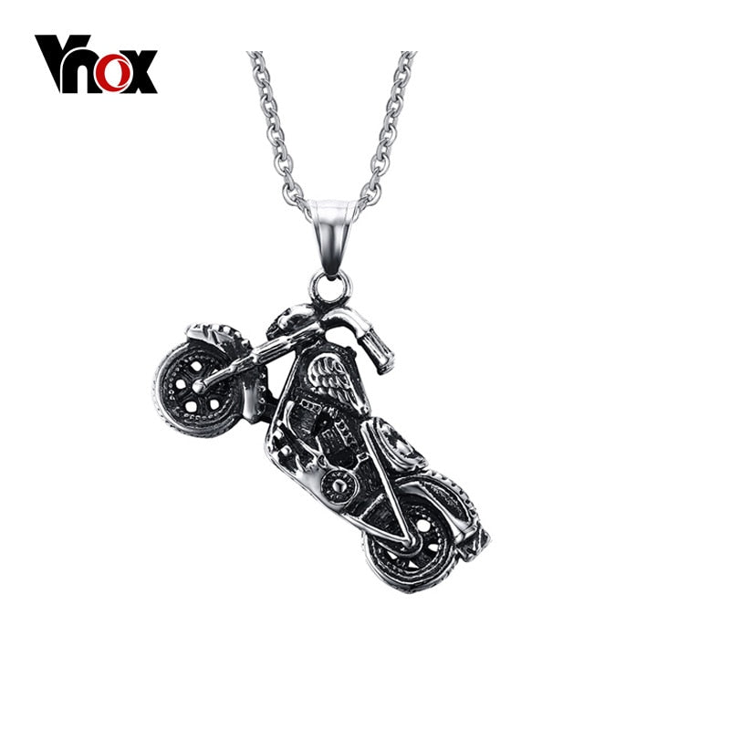 Men's Ghost Rider Stainless Steel Motorcycle Necklace