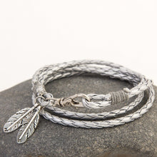 Designer Fashion Multi Layer Feather Rope Bracelet By Mdiger