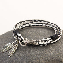 Load image into Gallery viewer, Designer Fashion Multi Layer Feather Rope Bracelet By Mdiger