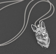Green Sky Unisex German Shepherd Necklace Dog Pendant