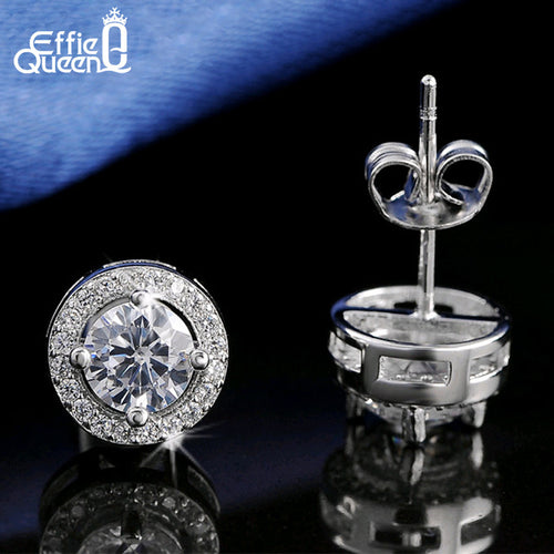 0.75ct Cubic Zirconia Crystal Stud Earrings By Effie Queen