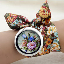 Load image into Gallery viewer, Shsby Flower Cloth Wristwatch With High Quality Fashion Cloth