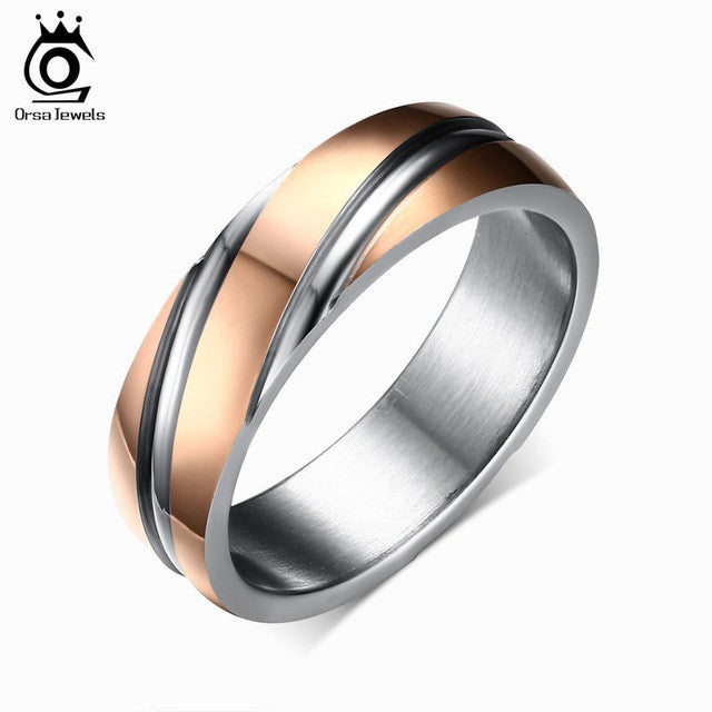 Daily Wear Top Quality Lead & Nickel Free Black Color Stainless Steel Ring By  ORSA JEWELS