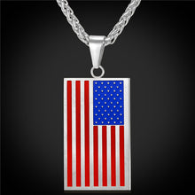 Stainless Steel/Gold Color US Flag Pendant Patriot Necklaces & Other Assorted Flags By Star Lord