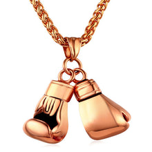 Golden Boxing Glove Pendant Charm Necklace By Star Lord