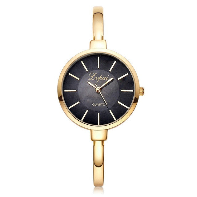 LVPAI Rose Gold Women's Round Bracelet Watch