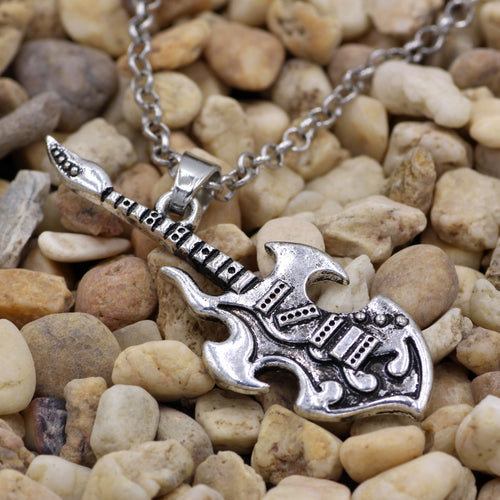 Unisex Rockstar Guitar Music Necklace Pendant By youe shone