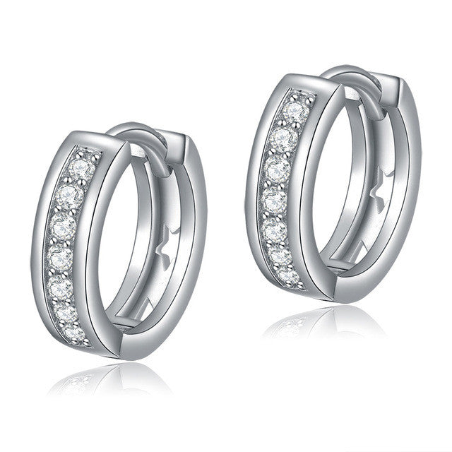 ORSA JEWELS Lead & Nickel Free Classic Silver Color Stud Earrings