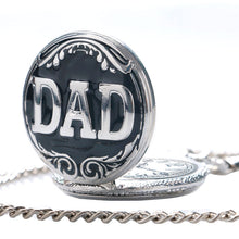 "Load image into Gallery viewer, Vintage ""DAD"" Letter Pocket Watch For Father's Day Gift With 30cm Chain By, YISUYA"