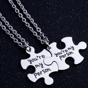 """You're My Person"" Stainless Steel  Pendant Necklace By, Yee Qin"