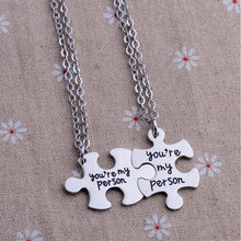 "Yee Qin Unisex ""You're My Person"" Stainless Steel  Pendant Necklace"