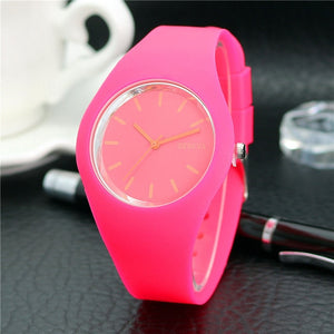 Women's Candy Colored Quartz Watches By, Luxfacigoo