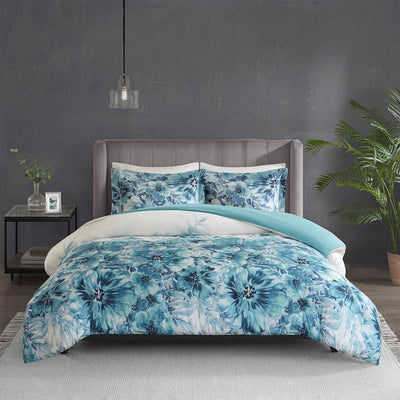 Enza Printed Floral Duvet Cover Set