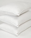 German Batiste Medium White Hungarian Goose Down Pillow (Level 3)
