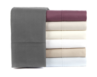 Knights Bridge Herringbone 500 Thread Count 100% Egyptian Cotton Sheet Set