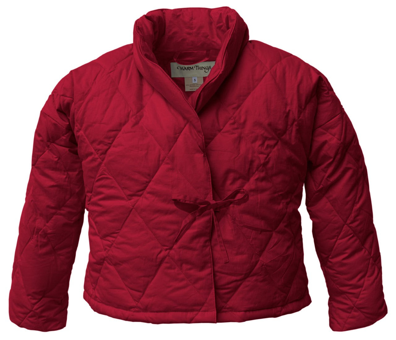 Warm Things Quilted Down Bed Jacket