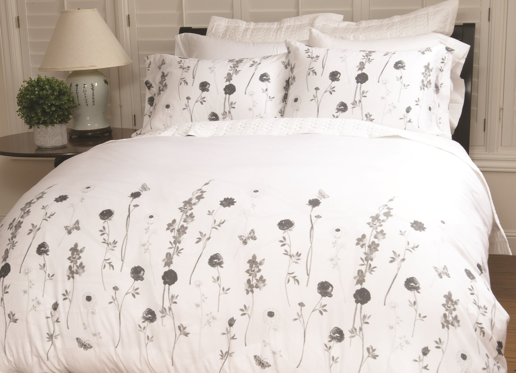 Carmel Floral European Pillow Shams Warm Things