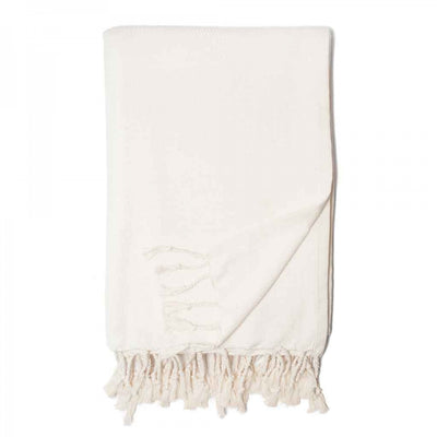 Organic Cotton Herringbone Throw