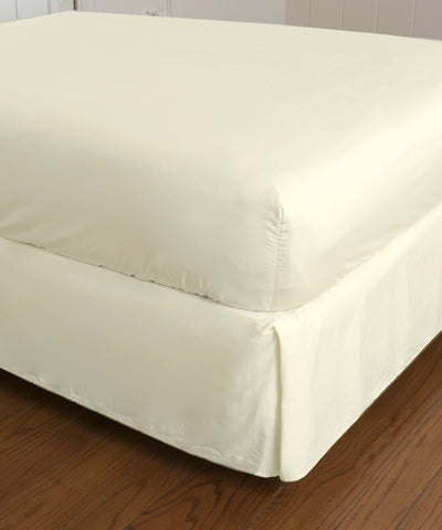 Warm Things Home 360 Thread Count Cotton Percale Fitted Bottom Sheet