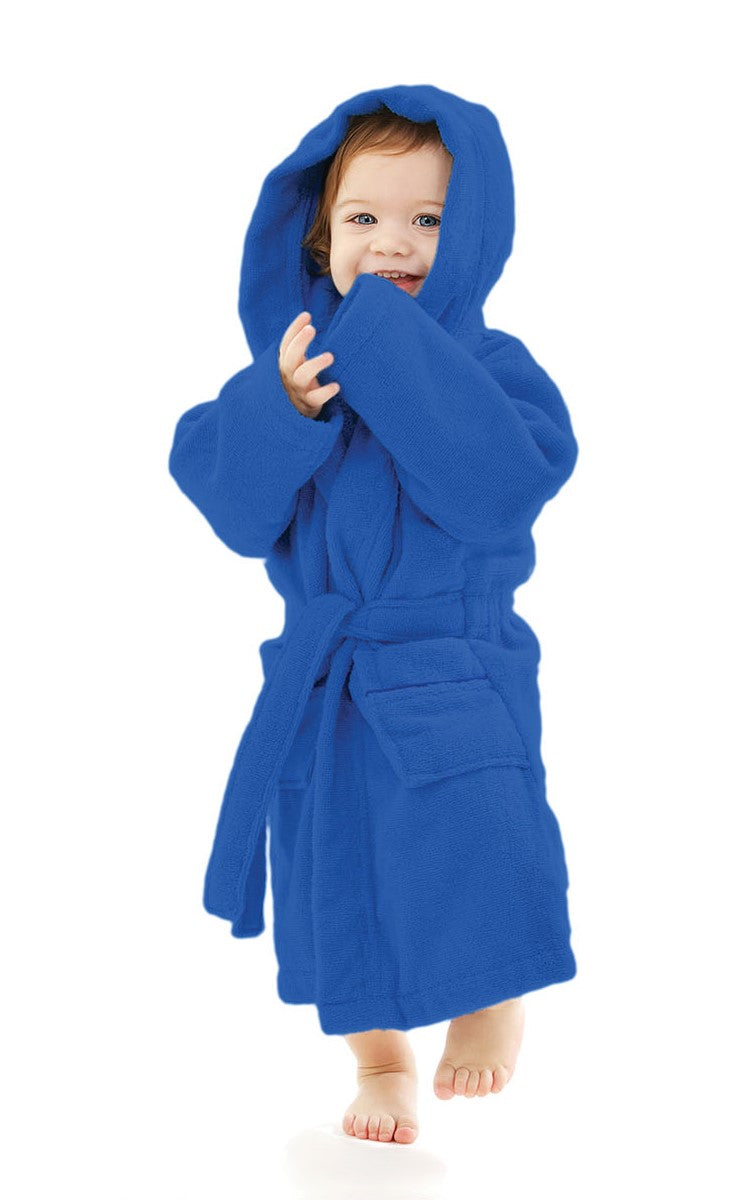 Kid S 100 Cotton Hooded Terry Robe Warm Things