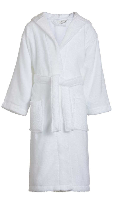 Kid's 100% Cotton Hooded Terry Robe