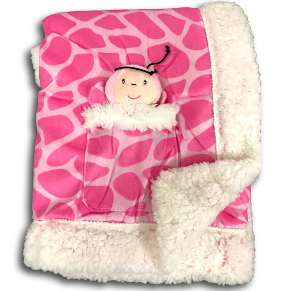 Plush Reversible Velour And Sherpa Baby Blanket With