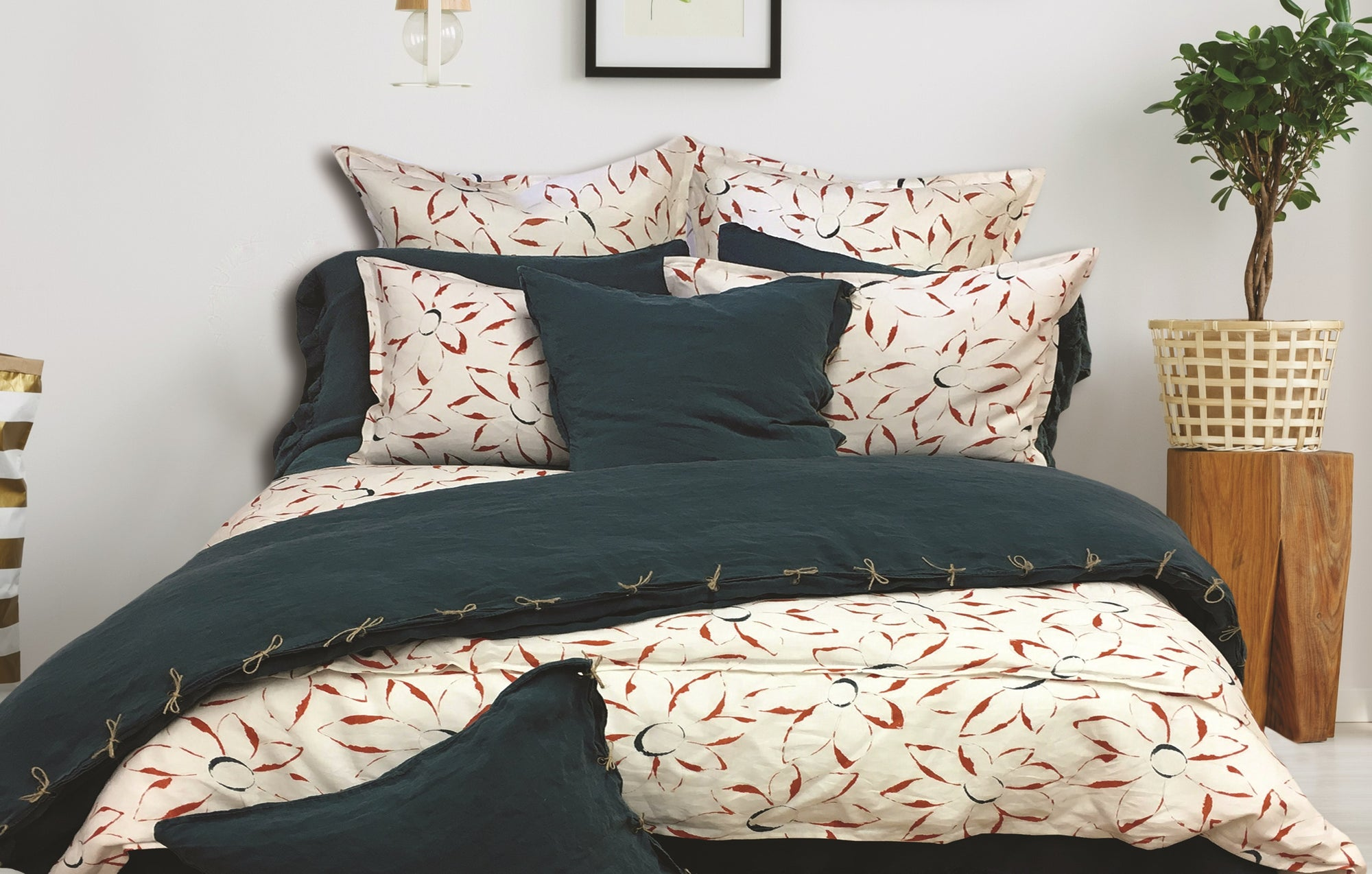 Summertime Floral European Pillow Shams Warm Things