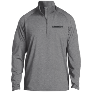 Mens 1/2 Zip Performance Pullover- Black Logo