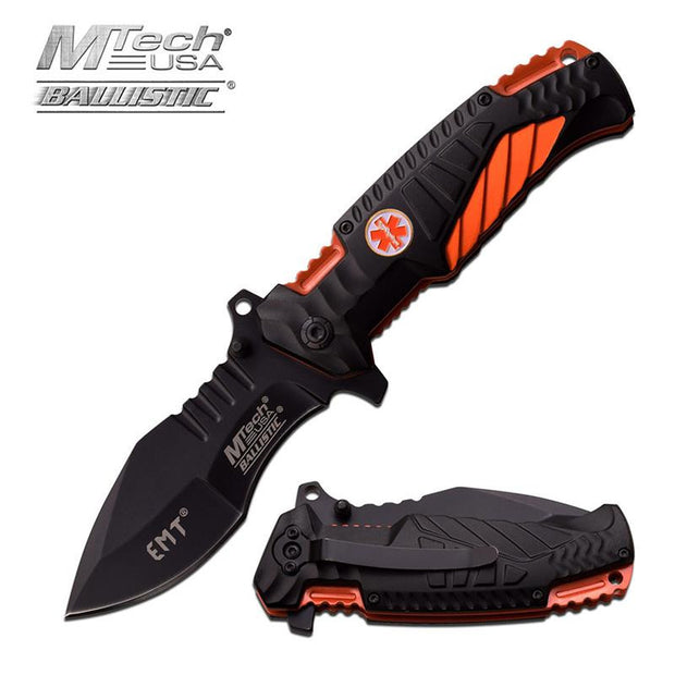 MTech USA 4.75 Inch Spring Assisted Knife EMT