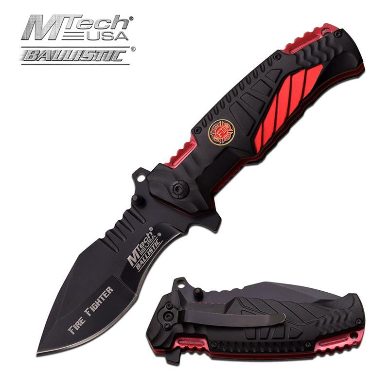 MTech USA 4.75 Inch Spring Assisted Knife Fire Fighter