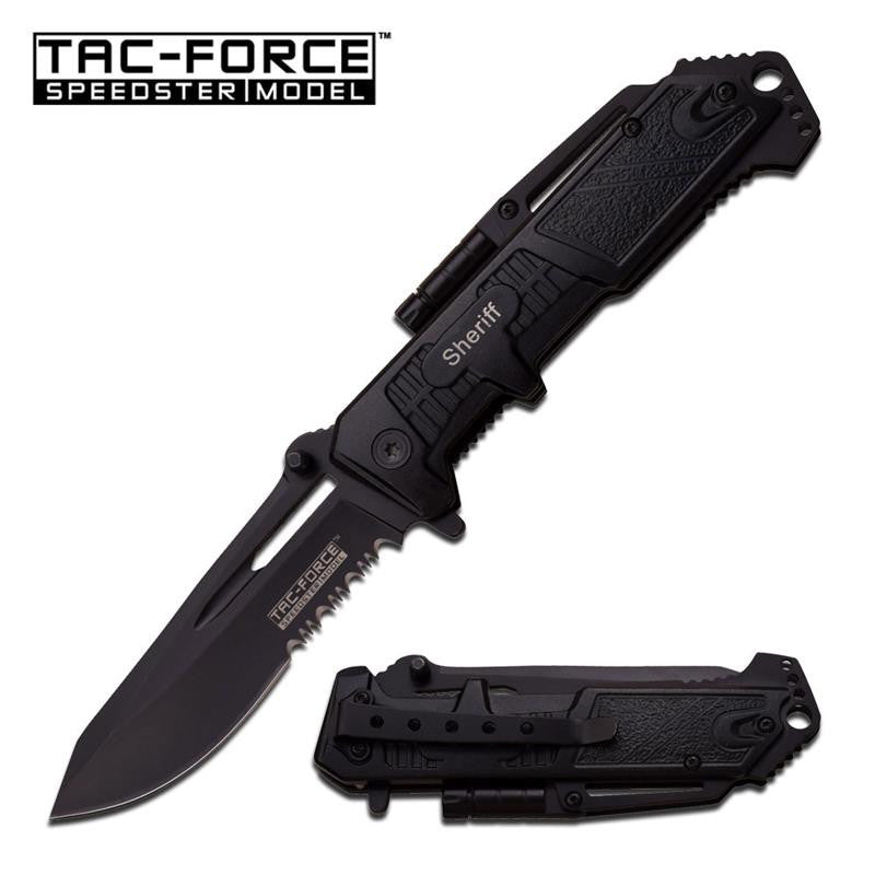Tac-Force 4.75 Inch Spring Assisted LED Knife Sheriff