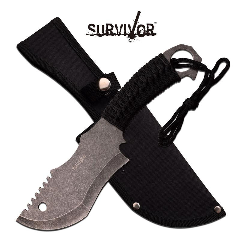 Survivor 10.5 Inch Survival Fixed Blade Knife