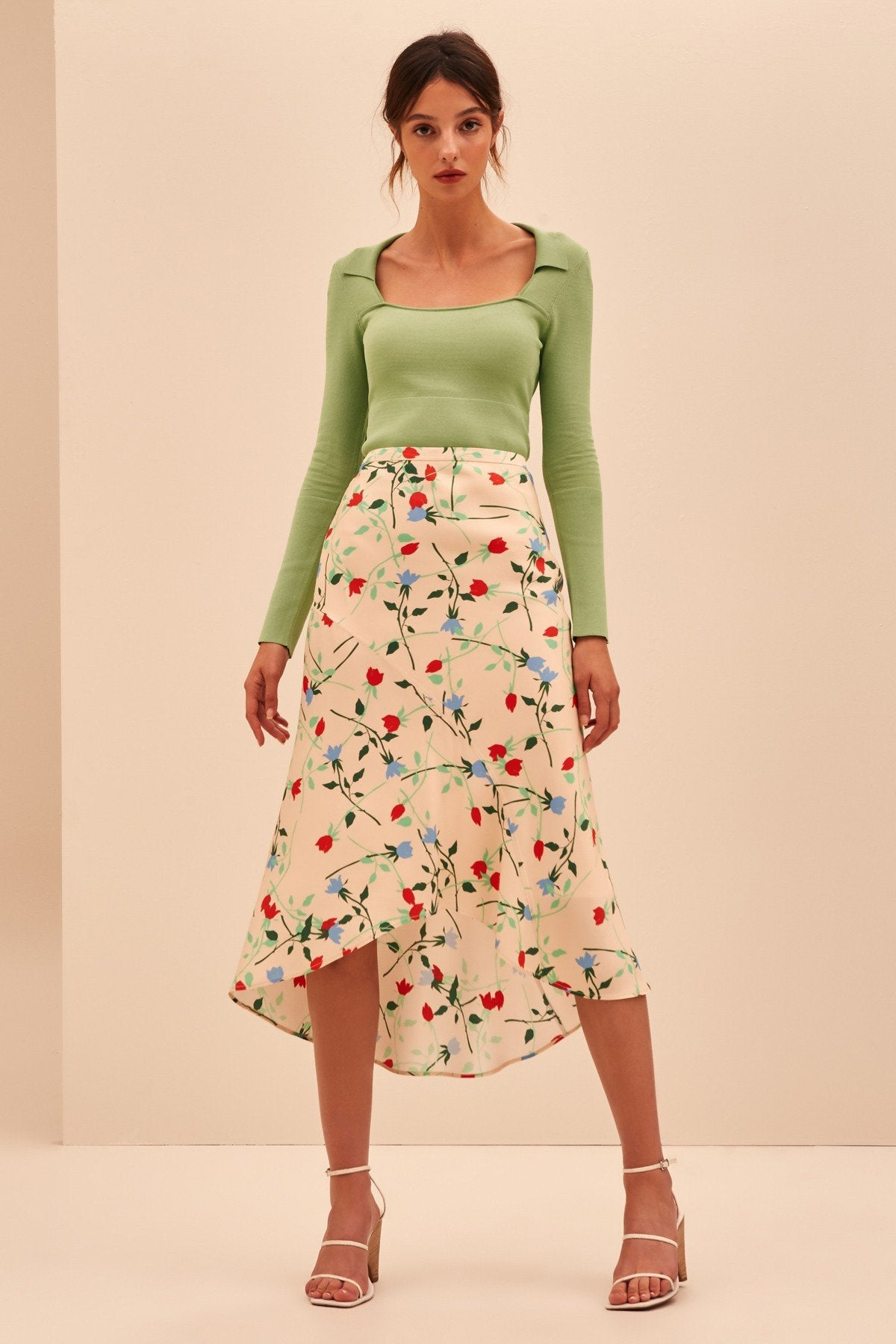Floral Sectional Skirt
