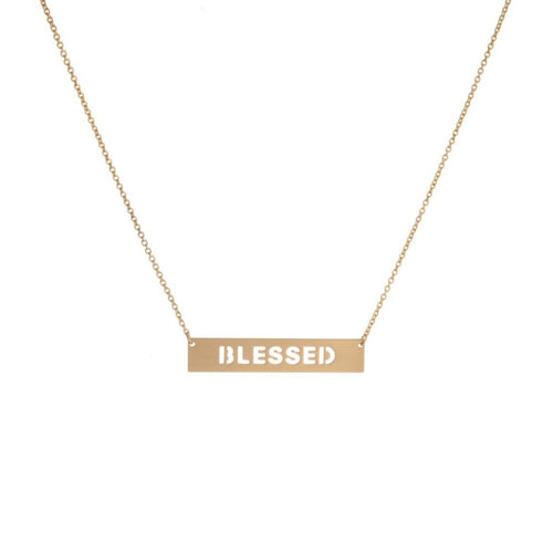 Blessed Bar Necklace - Morph Boutique