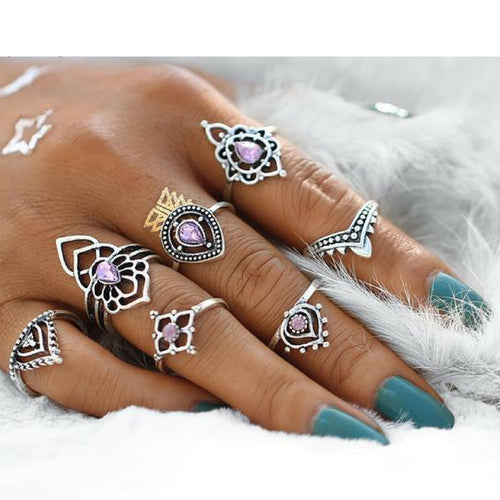 Flora Midi Ring Set - Morph Boutique