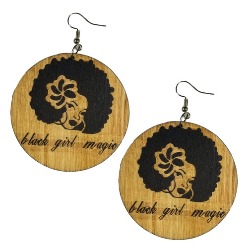 Black Girl Magic Earrings - Morph Boutique