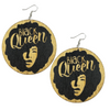 Black Queen Earrings - Morph Boutique