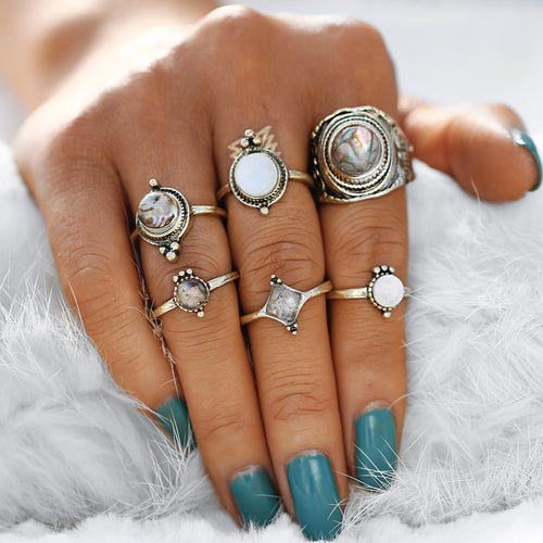 Carmen Vintage Midi Ring Set - Morph Boutique