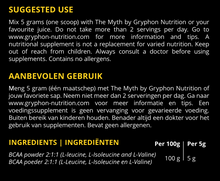 2:1:1 Pure BCAA by Gryphon Nutrition | GRPHN | voedingswaarden