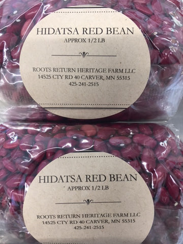 Dried Red Hidatsa Bean - 1/2 LB bag