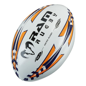 Ram Rugby Micro Softfeel Rugby Ball - Customized - RamRugbyUSA.com