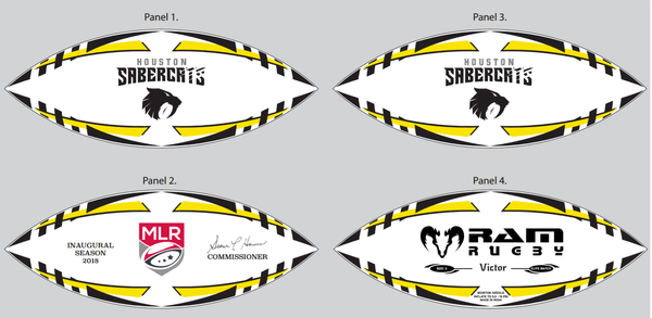 Houston Sabercats Victor Elite Match Ball by Ram Rugby - RamRugbyUSA.com
