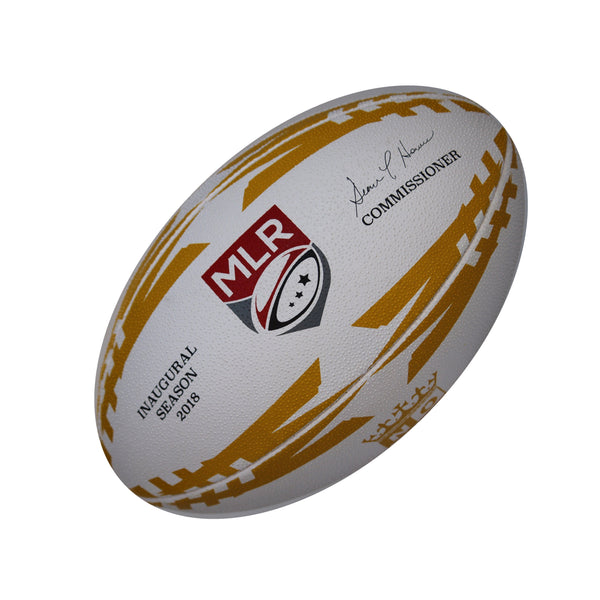New Orleans Gold Gripper Pro Training Ball by Ram Rugby