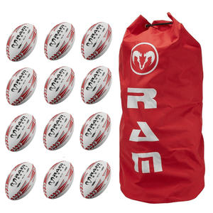 Ram Rugby Squad Trainer Ball 12 Pack Bundle