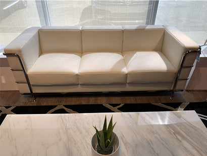 Urban Sofa - White Italian Leather