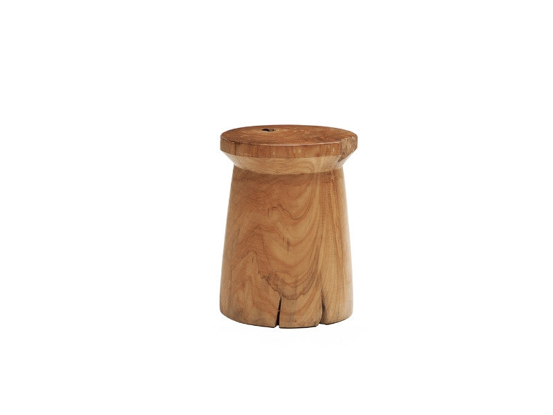 Solid Teak Wood Stool - Round