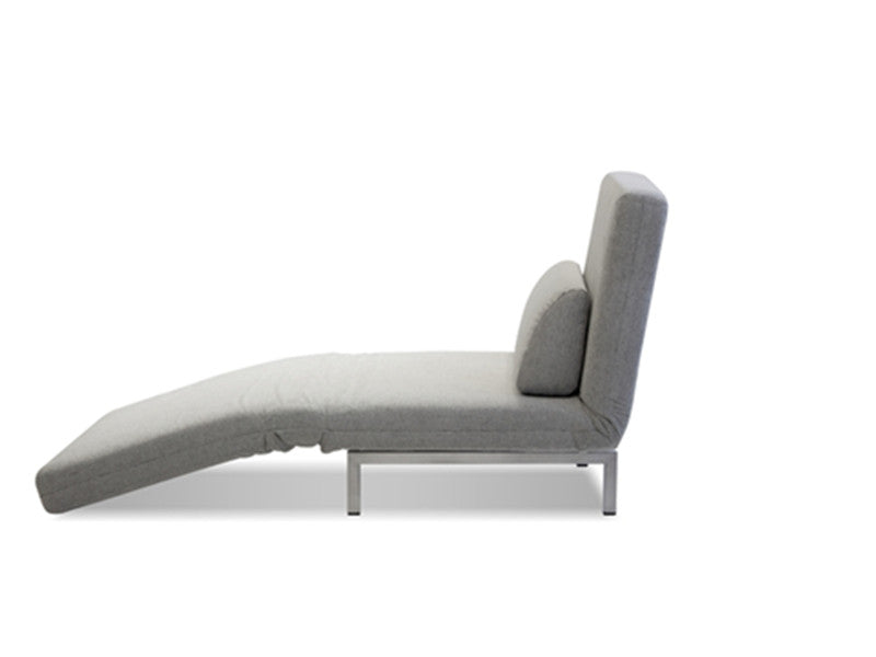 Iso Single Lounger - Silver