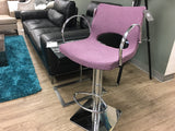 Jed Hydraulic Stool - Purple Fabric
