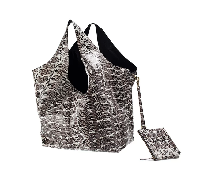 Black & White Water Snake Carry-All Bag